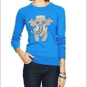 C. Wonder Blue Lambswool Cashmere Elephant Sweater